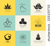 set of logos for yoga studio or ... | Shutterstock .eps vector #233155735