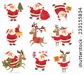 santa claus and christmas... | Shutterstock .eps vector #233155834