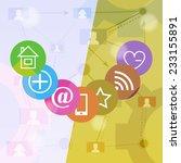 social media abstract... | Shutterstock .eps vector #233155891