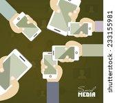 social media concept poster... | Shutterstock .eps vector #233155981