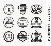 vector set of coffee shop logos ... | Shutterstock .eps vector #233157679