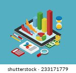 flat 3d isometric business... | Shutterstock .eps vector #233171779
