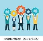 flat style modern business... | Shutterstock .eps vector #233171827