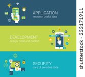 flat style application security ... | Shutterstock .eps vector #233171911