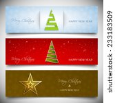 set of christmas banners with... | Shutterstock .eps vector #233183509