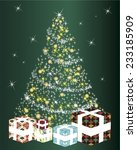 christmas tree | Shutterstock .eps vector #233185909