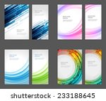set of brochure flyer design... | Shutterstock .eps vector #233188645