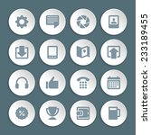 flat icons vector set paper and ...