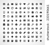 100 flat icons vector set for...