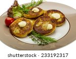 hash browns with herbs on the... | Shutterstock . vector #233192317