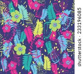 colorful exotic pattern.   Shutterstock .eps vector #233196085