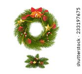 merry christmas wreaths design  ... | Shutterstock .eps vector #233197675
