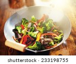 Chinese Stir Fry In Wok With...
