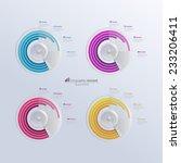 vector infographic template.... | Shutterstock .eps vector #233206411