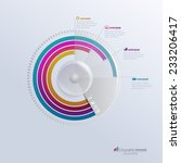 vector infographic template.... | Shutterstock .eps vector #233206417