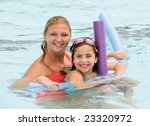 mother and daughter playing in... | Shutterstock . vector #23320972