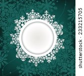 christmas round frame with... | Shutterstock .eps vector #233215705
