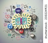 entertainment and music collage ...   Shutterstock .eps vector #233224921