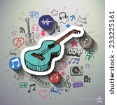 entertainment and music collage ... | Shutterstock .eps vector #233225161