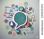 business collage with icons... | Shutterstock .eps vector #233225191