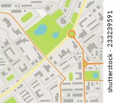 city map  | Shutterstock . vector #233239591