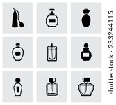vector perfume icon set on grey ... | Shutterstock .eps vector #233244115