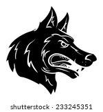 wolf mascot | Shutterstock .eps vector #233245351