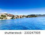 beautiful beach and tropical sea | Shutterstock . vector #233247505