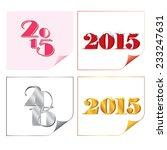 happy new year 2015 | Shutterstock .eps vector #233247631