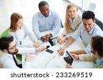 partners gathering for panel...   Shutterstock . vector #233269519