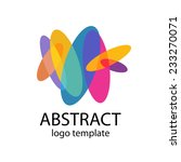 abstract colorful shapes logo... | Shutterstock .eps vector #233270071