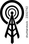 radio tower that broadcasts to... | Shutterstock .eps vector #2332742