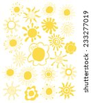 hand drawn set of different... | Shutterstock .eps vector #233277019