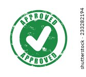 approved rubber stamp  vector... | Shutterstock .eps vector #233282194