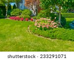 flowers and nicely trimmed... | Shutterstock . vector #233291071