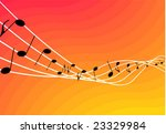 music notes vector background | Shutterstock .eps vector #23329984