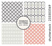 vector set of seamless patterns.... | Shutterstock .eps vector #233303569