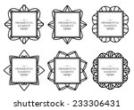 ornamental frame collection.... | Shutterstock .eps vector #233306431