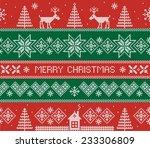 merry christmas. seamless... | Shutterstock .eps vector #233306809