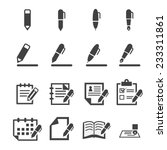 writing icons | Shutterstock .eps vector #233311861
