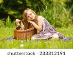 summer children and happiness... | Shutterstock . vector #233312191
