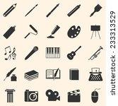 vector set of art icons.... | Shutterstock .eps vector #233313529