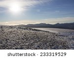 Snow Covered Mountain Top In...