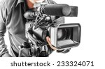 video operator isolated on a... | Shutterstock . vector #233324071