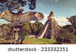 neophron looking at the ancient ...   Shutterstock . vector #233332351
