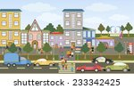 vector illustration of a city... | Shutterstock .eps vector #233342425