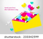 vector drawing an envelope with ... | Shutterstock .eps vector #233342599