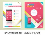 abstract vector brochure... | Shutterstock .eps vector #233344705