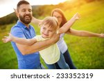 mother father and daughter... | Shutterstock . vector #233352319