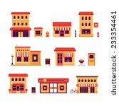 local business buildings. set... | Shutterstock .eps vector #233354461